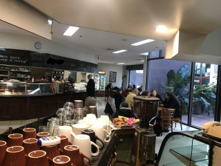Large café with commercial kitchen on Melbourne CBD