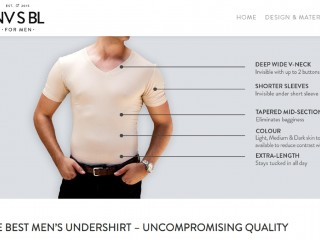 NVSBL - The Best Undershirts For Men (Online e-commerce business)